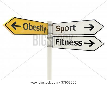 Obesity Road sign
