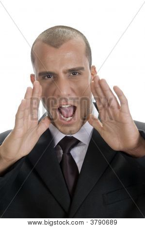 Unsuccessful Businessman Shouting
