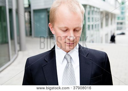 Succsessful Business Man With Tie And Black Dress