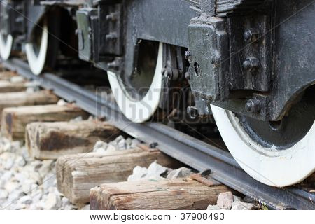 Train wheels on track