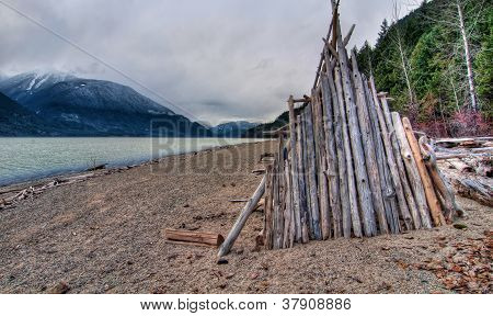 Lake Side Wooden Hut