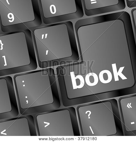 Book Button On Computer Keyboard