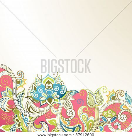 Abstract Floral Scroll