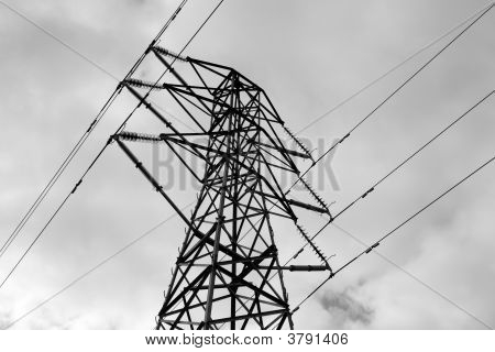 Power Line Black And White