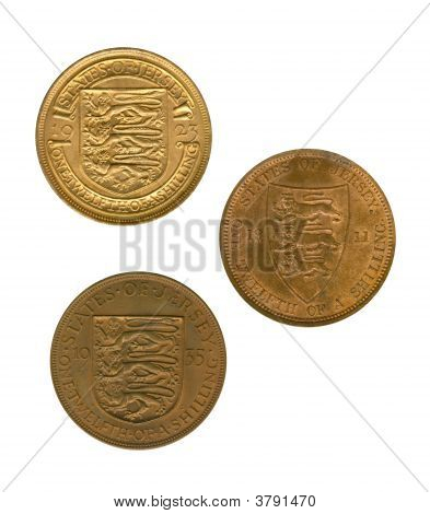 Three Gold Jersey Coins
