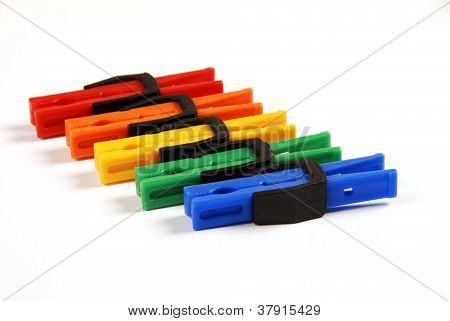 Multicolored Clothes Pegs
