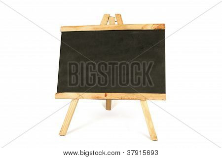 Chalk Board Over White