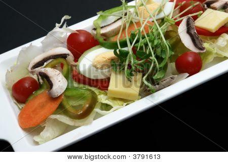 Garden Salad With Black Background