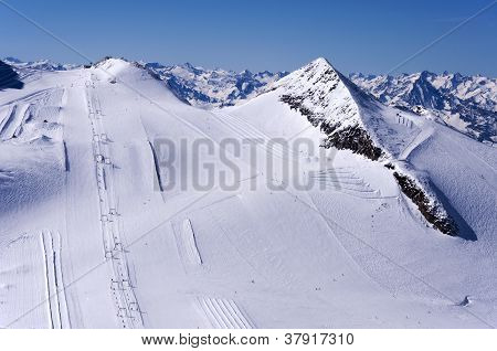 Ski Runs On Hintertux Glacier