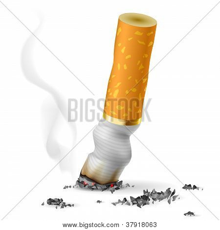 Ponta de cigarro realista