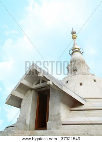 Church in Buddhism under Blue Sky