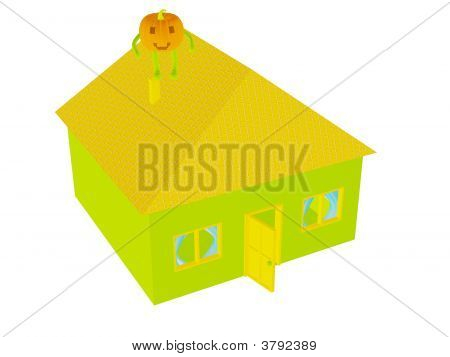 Pumpkin On House