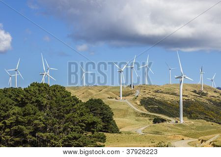 Wind Farm turbine power generation
