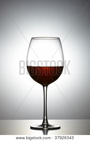 Glass Of Red Wine In Glass