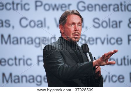 San Francisco, Ca, Sept 30, 2012 - Ceo Of Oracle Larry Ellison Makes His First Speech At Oracle Open