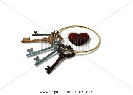 Antique Keys And Heart