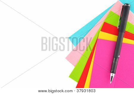 Letter Paper Colorful Isolated
