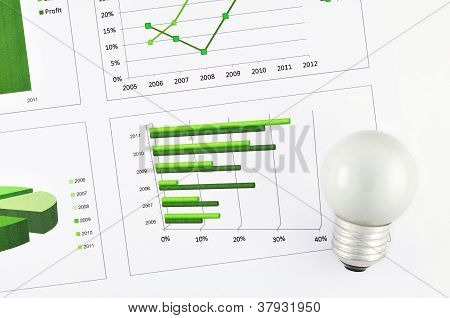 Business Chart Market At Lamp