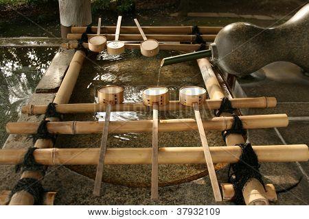 Shinto Temple's Chozuya Fountain
