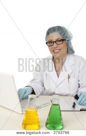 Smiling Scientist Researcher