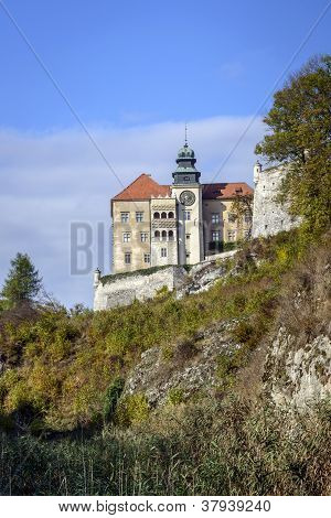 View Of Pieskowa Skala Castle In Poland