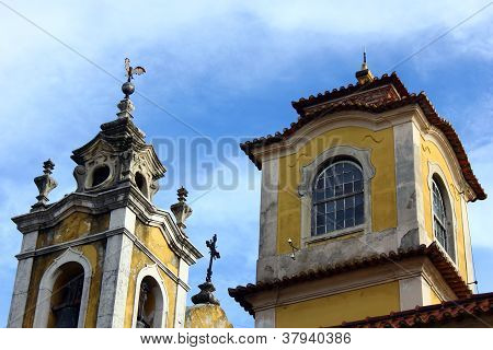 Detail of an old chappel at Lisbon, Portugal