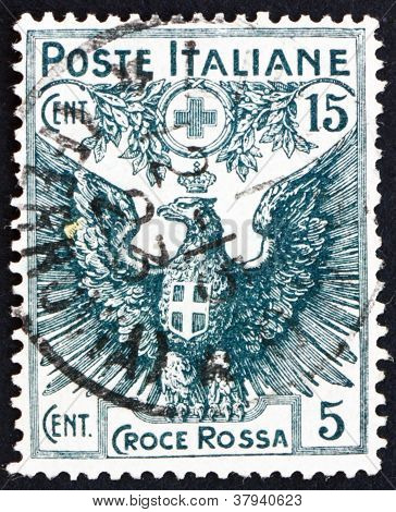 Postage stamp Italy 1915 Italian Eagle Bearing Arms of Savoy