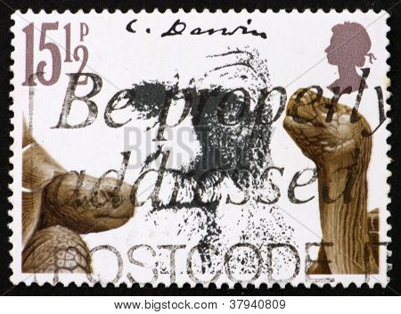 Postage stamp GB 1982 Giant tortoises and CharlesDarwin