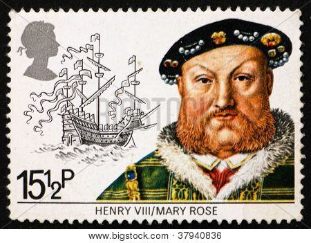 Postage stamp GB 1982 King HenryVIII