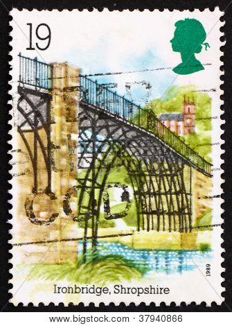 Postage stamp GB 1989 IronBridge
