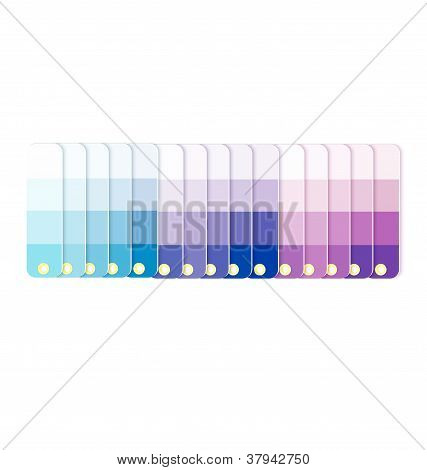 Swatches With Tints In Row  Vector