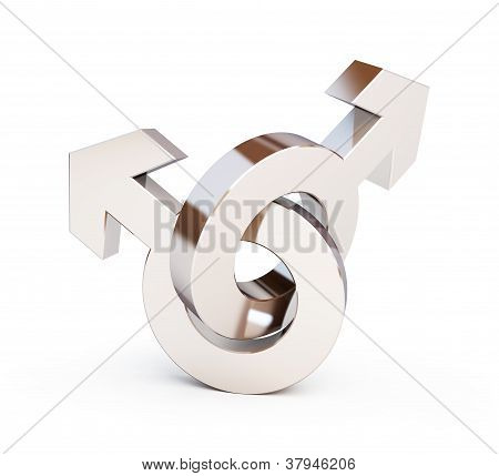 Gays Symbol On A White Background