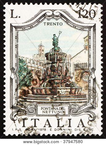 Postage stamp Italy 1978 Neptune Fountain, Trent, Italy