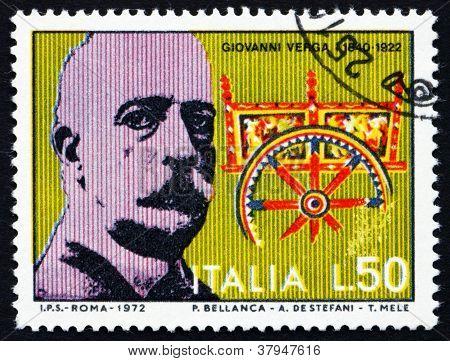 Postage stamp Italy 1972 Giovanni Verga, writer andplaywright