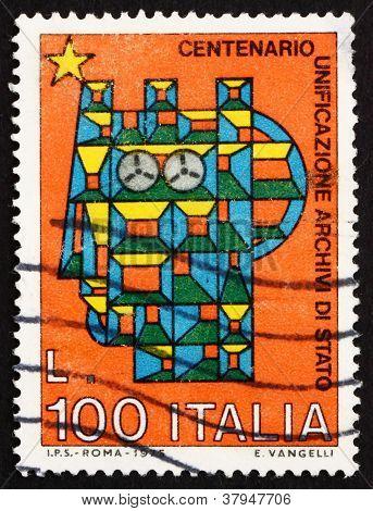 Postage stamp Italy 1975 Stylized SyracuseanItalia