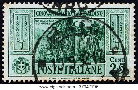 Postage stamp Italy 1932 Garibaldi at Battle ofCalatafimi