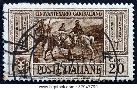 Postage stamp Italy 1932 Garibaldi meeting King Victor EmmanuelII