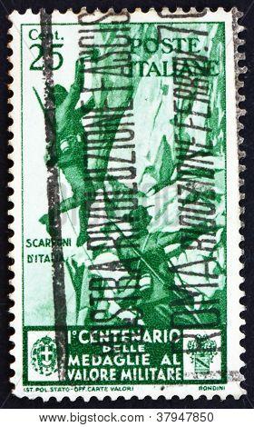 Postage stamp Italy 1934 Alpine Infantry