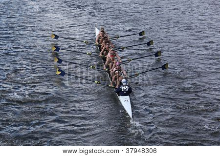 La Salle College High Schoolraces in the Head of Charles Regatta