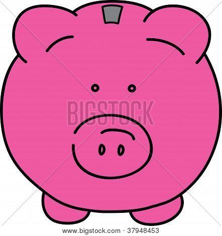 Vector de cerdo rosa