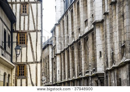 Rouen - Exterior Of Ancient Houses
