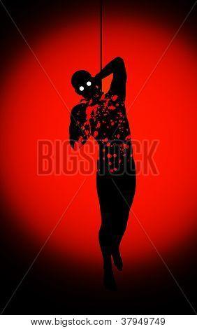 Bloody Hanging Man