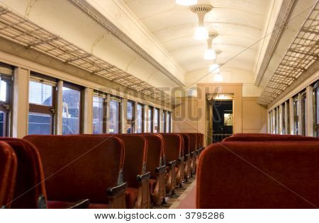 Interior Of A Pullman Train Of 1930\\\'S