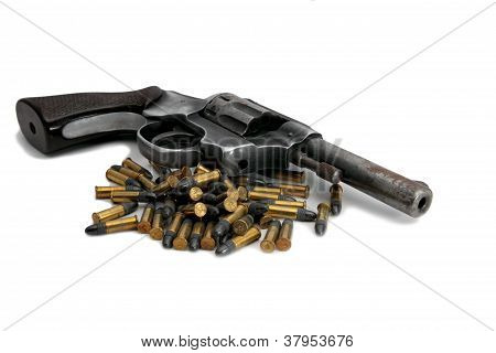 Old Gun And Bullets
