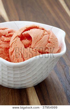 delicious freash mandarin icecream