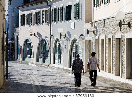An Old Town street of Herceg Novi,Montenegro