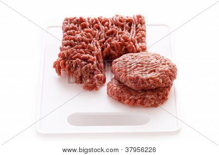 Making Hamburgers From Raw Ground Beef