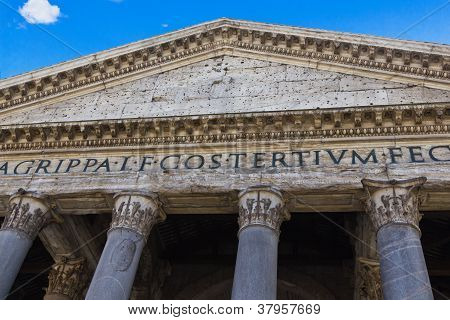 Portico Of The Pantheon, Rome