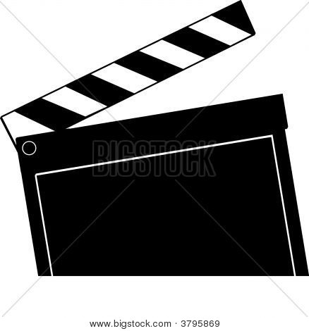 Clapboard Ready For Action.