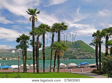 Promenade of Lugano,Switzerland